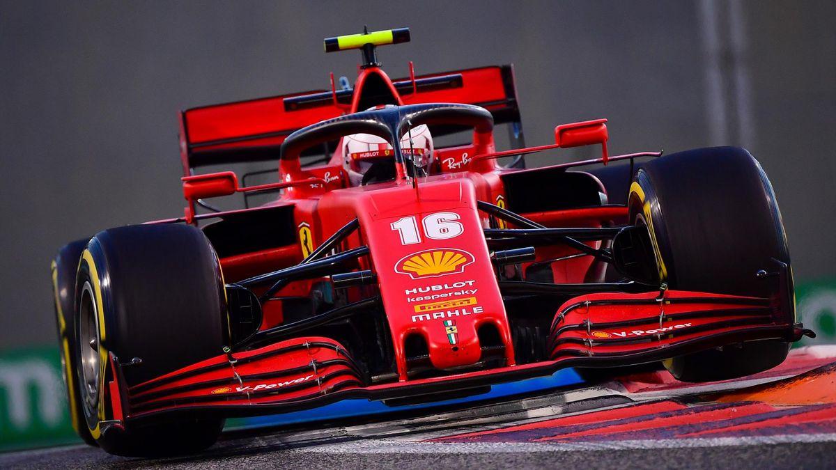 Charles Leclerc (Ferrari) lors des essais libres du Grand Prix d'Abou Dabi, le 11 décembre 2020