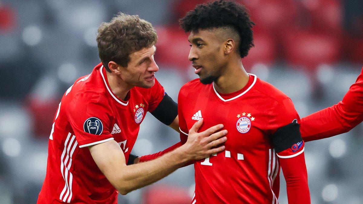 Thomas Müller, Kingsley Coman - FC Bayern München