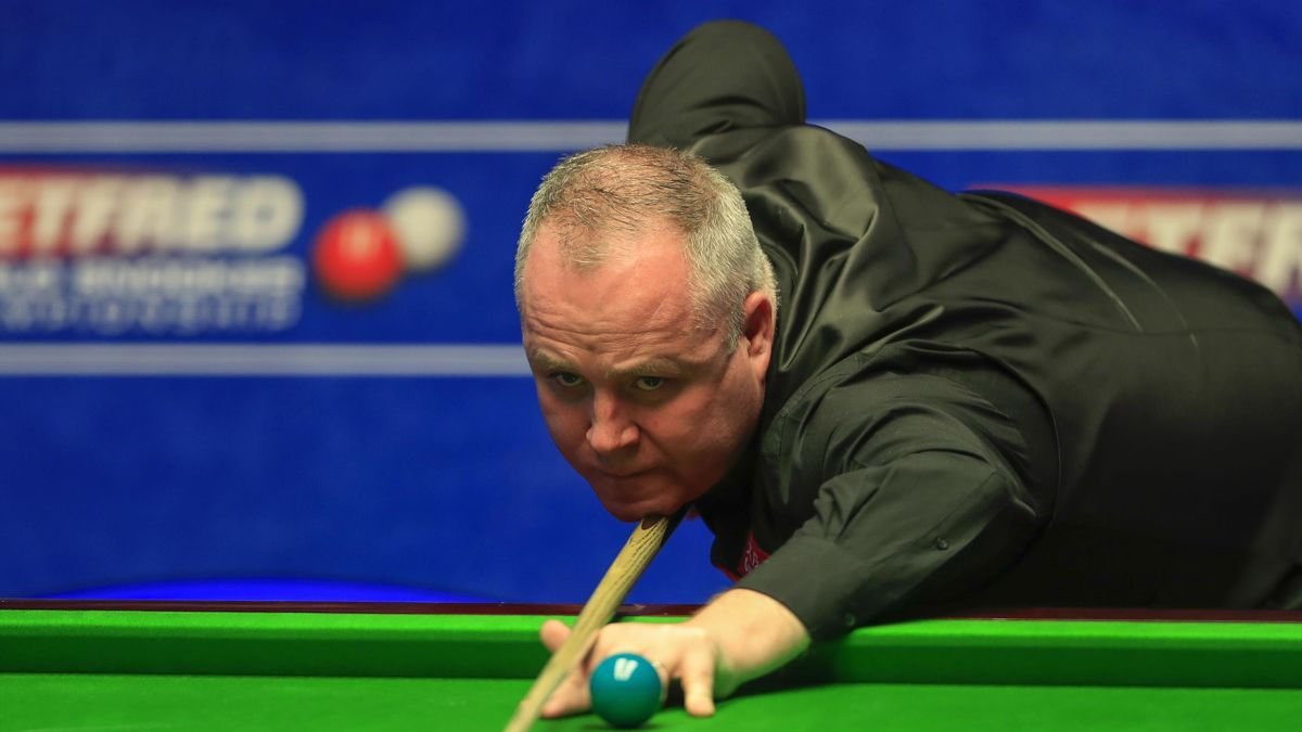 Crucible Theatre, Sheffield, England; Betfred World Snooker Championship, second round; John Higgins (SCO) in action during his second round match against Stuart Bingham (ENG)