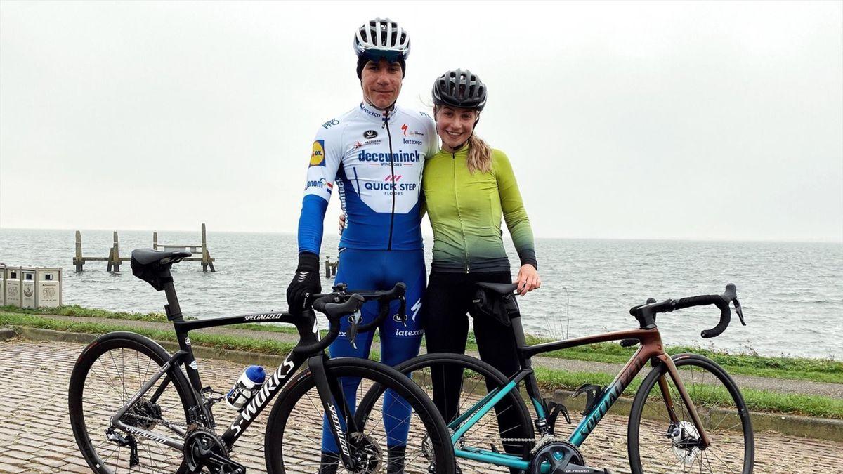 Fabio Jakobsen, alături de prietena sa, la prima plimbare cu bicicleta după accidentul din Turul Poloniei