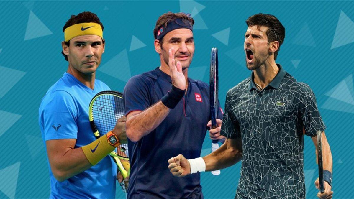 Rafa Nadal, Roger Federer and Novak Djokovic