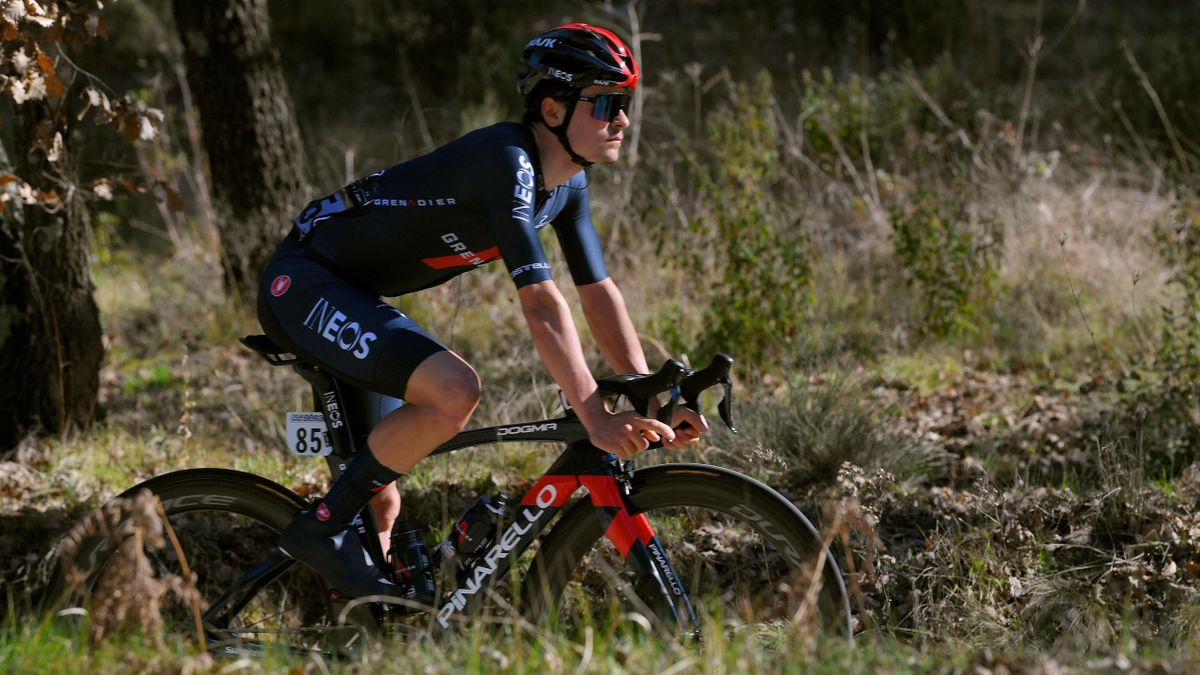 Tom Pidcock in action in southern France for Ineos Grenadiers