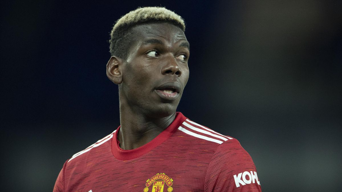 Paul Pogba of Manchester United during the Carabao Cup Quarter Final match between Everton and Manchester United