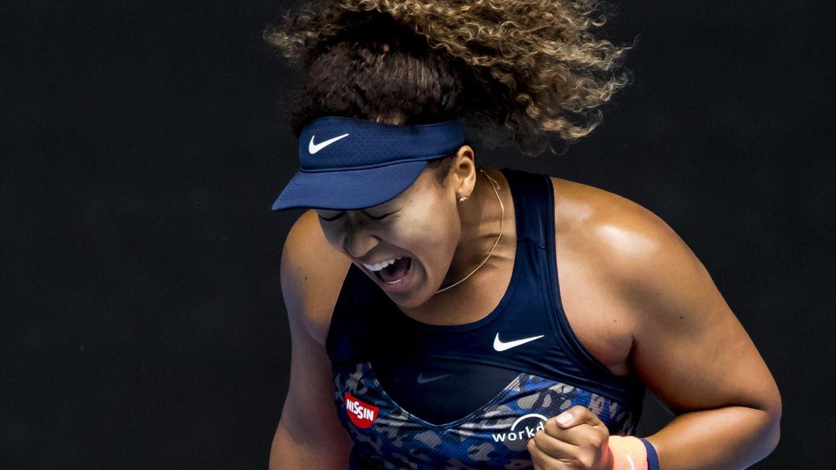 Naomi Osaka lors de l'Open d'Australie 2021
