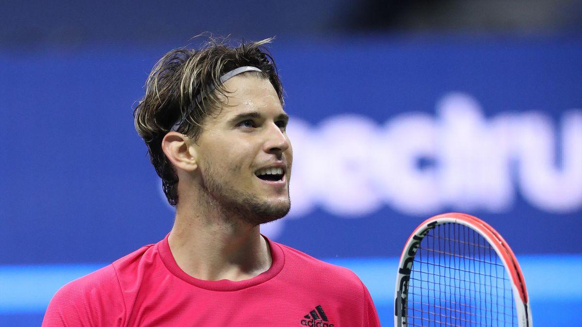 Dominic Thiem savoure sa victoire contre Daniil Medvedev lors de la demie-finale de l'US Open 2020