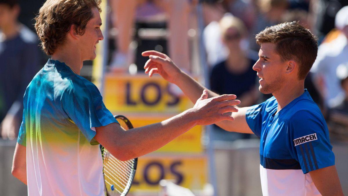 Alex Zverev (li.) und Dominic Thiem (re.)