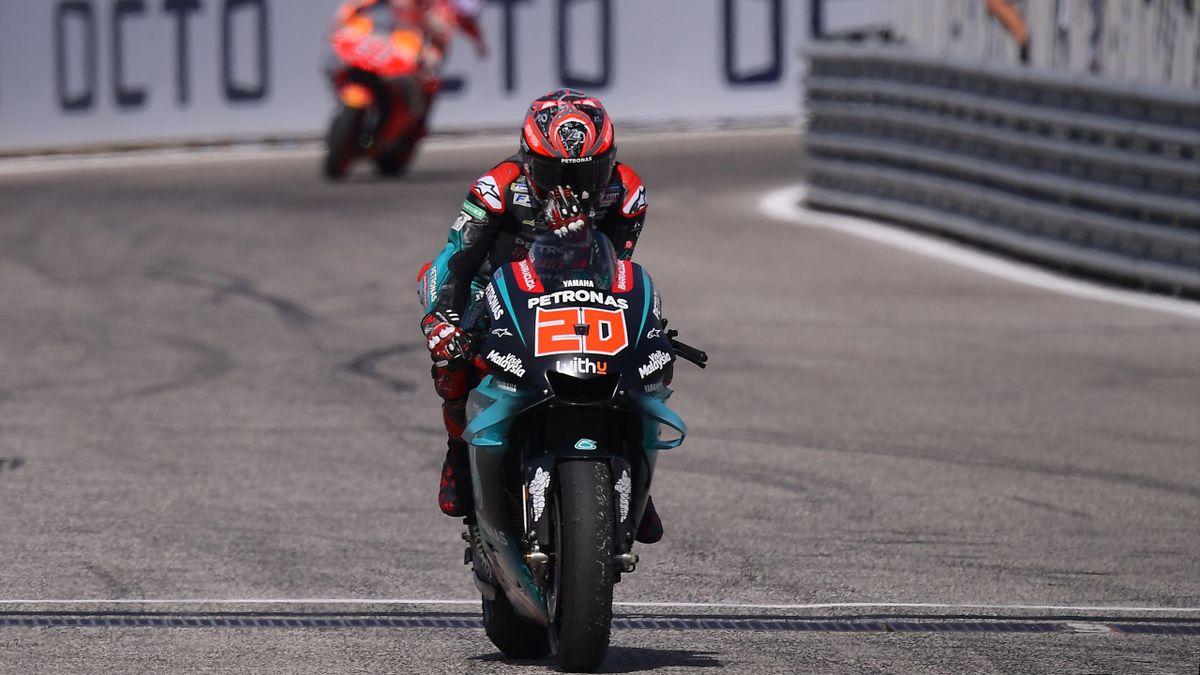 Fabio Quartararo (Yamaha Petronas SRT) lors du Grand Prix de Saint-Marin 2019