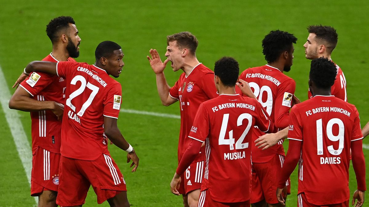 Bayern Munich celebrate, April 20, 2021