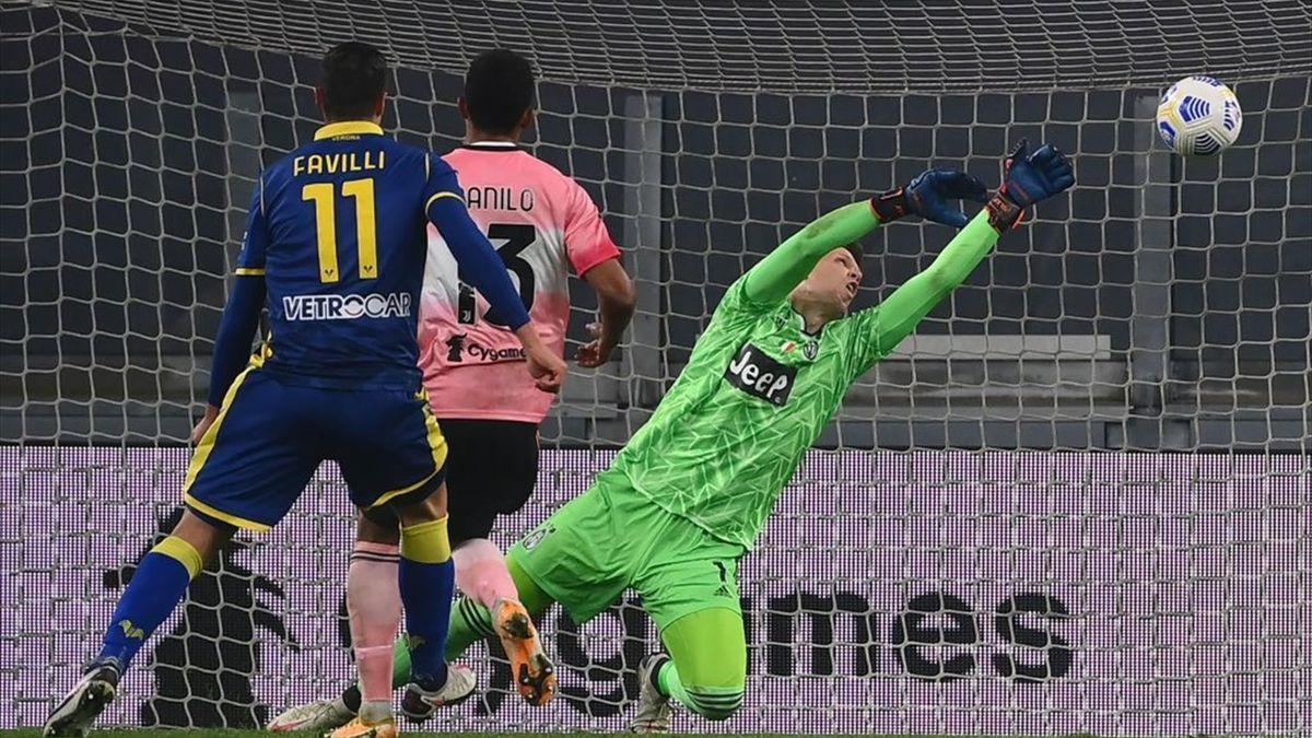 Il gol di Favilli in Juventus-Verona