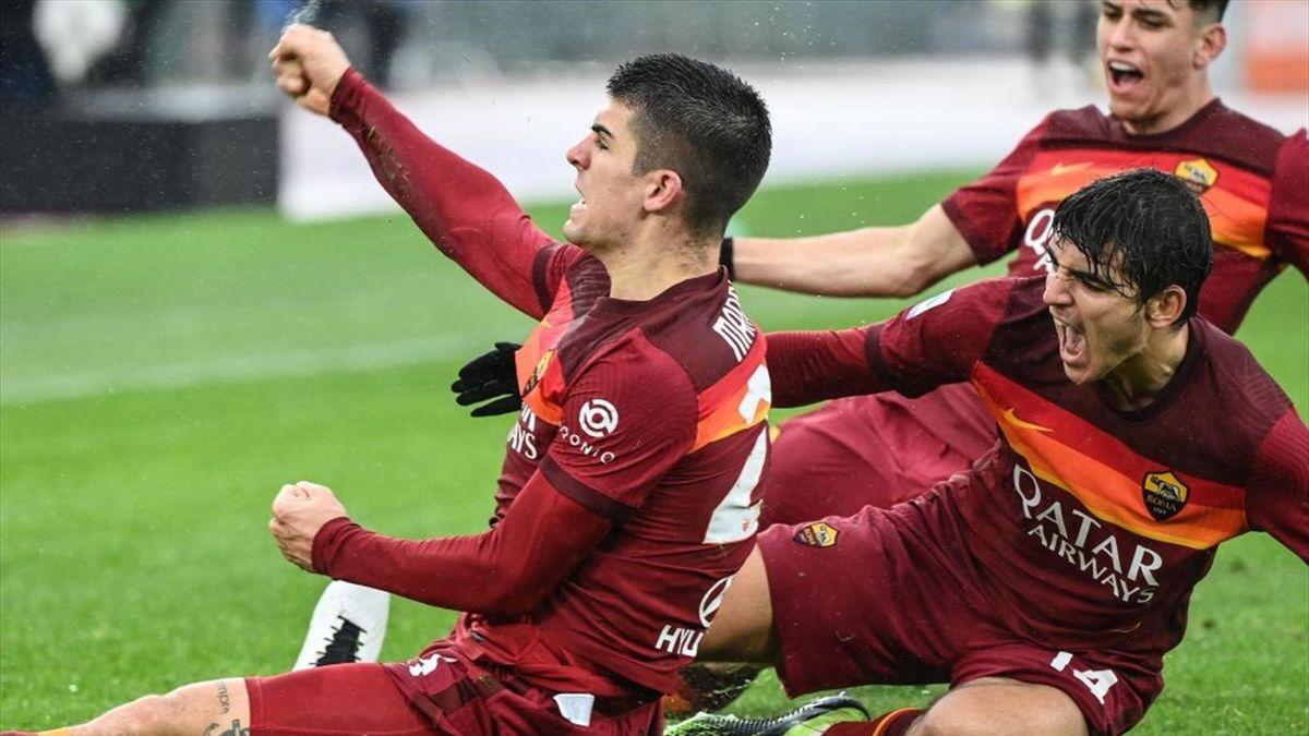 Gianluca Mancini - Roma-Inter - Serie A 2020-2021