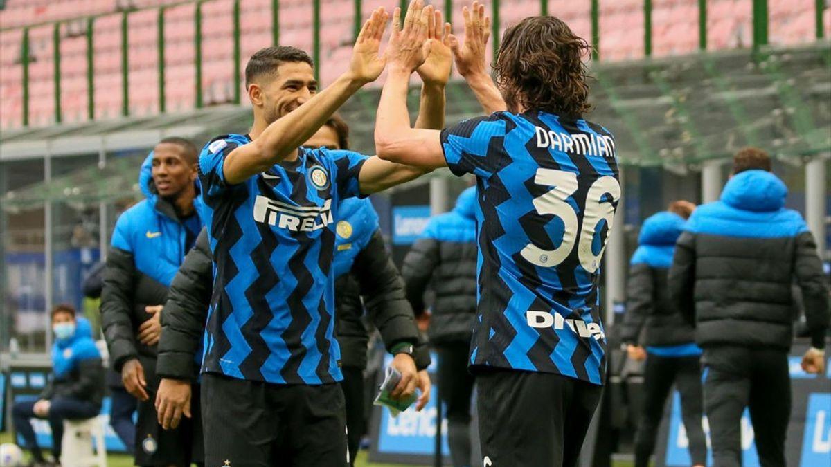 Inter-Cagliari - Hakimi e Darmian