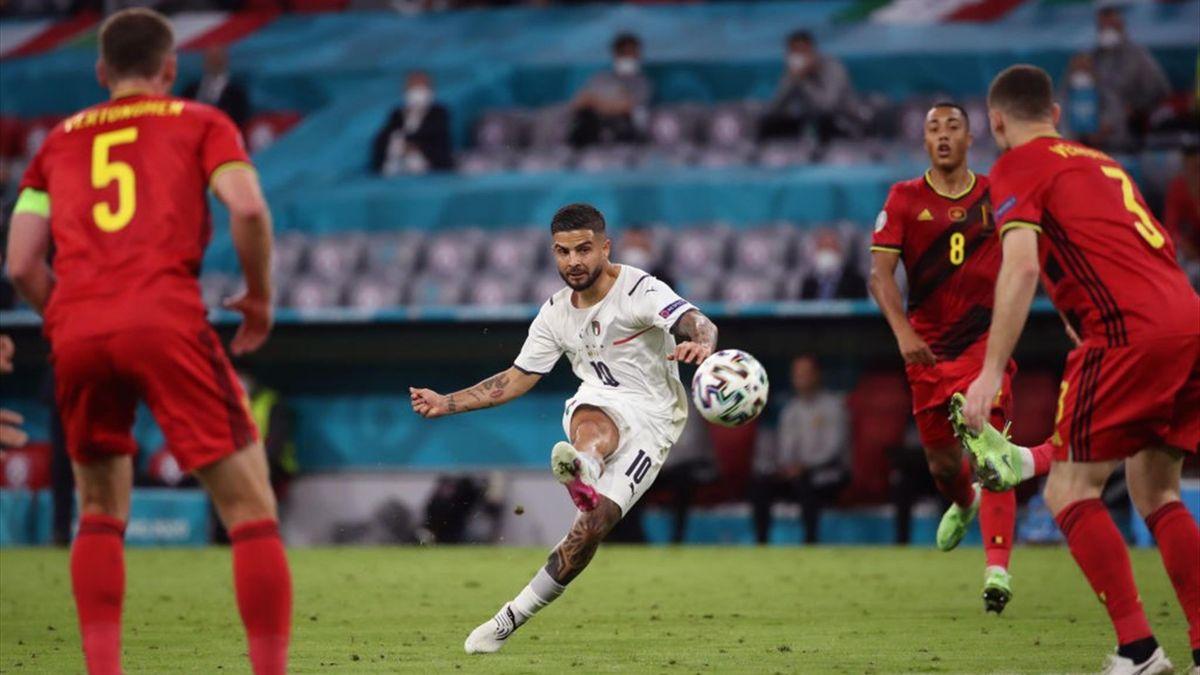 Il gol di Lorenzo Insigne in Belgio-Italia 1-2 - Euro 2020