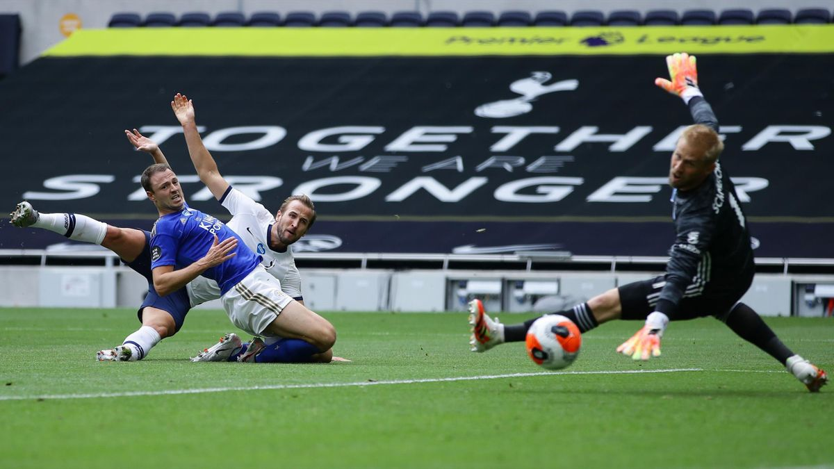 Harry Kane (Tottenham Hotspur) trifft gegen Leicester City