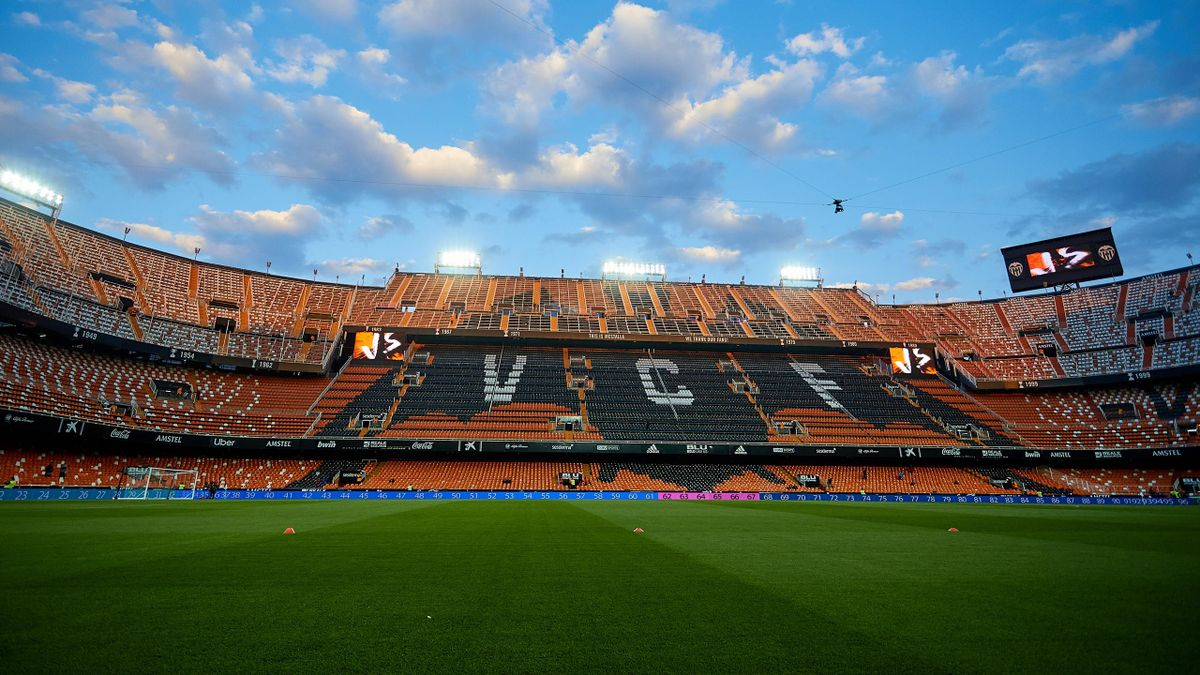 General view inside the stadium prior to the La Liga match between Valencia CF and Real Madrid CF at Estadio Mestalla on April 3, 2019 in Valencia, Spain.
