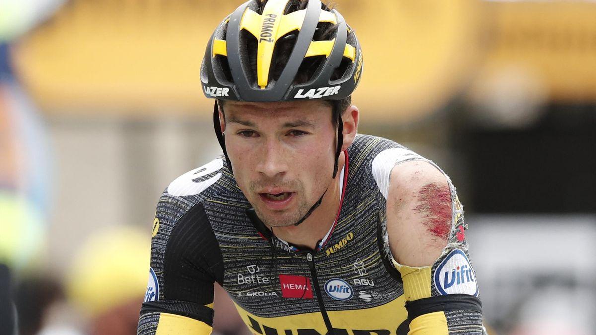 Primoz Roglic al traguardo di Pontivy - Tour de France 2021