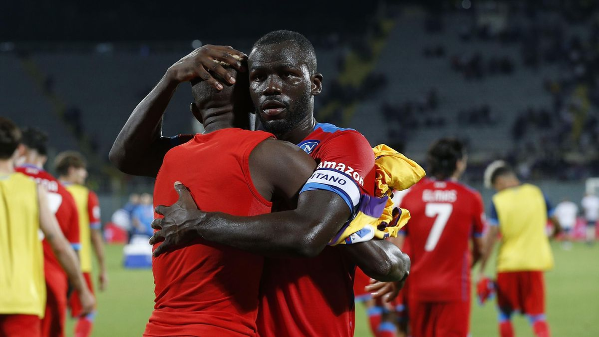 Kalidou Koulibaly al termine di Fiorentina-Napoli