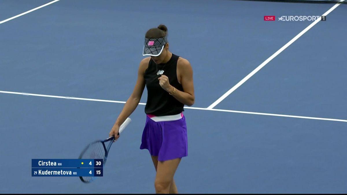 Punct fabulos reușit de Sorana Cîrstea în primul set al meciului cu Kudermetova