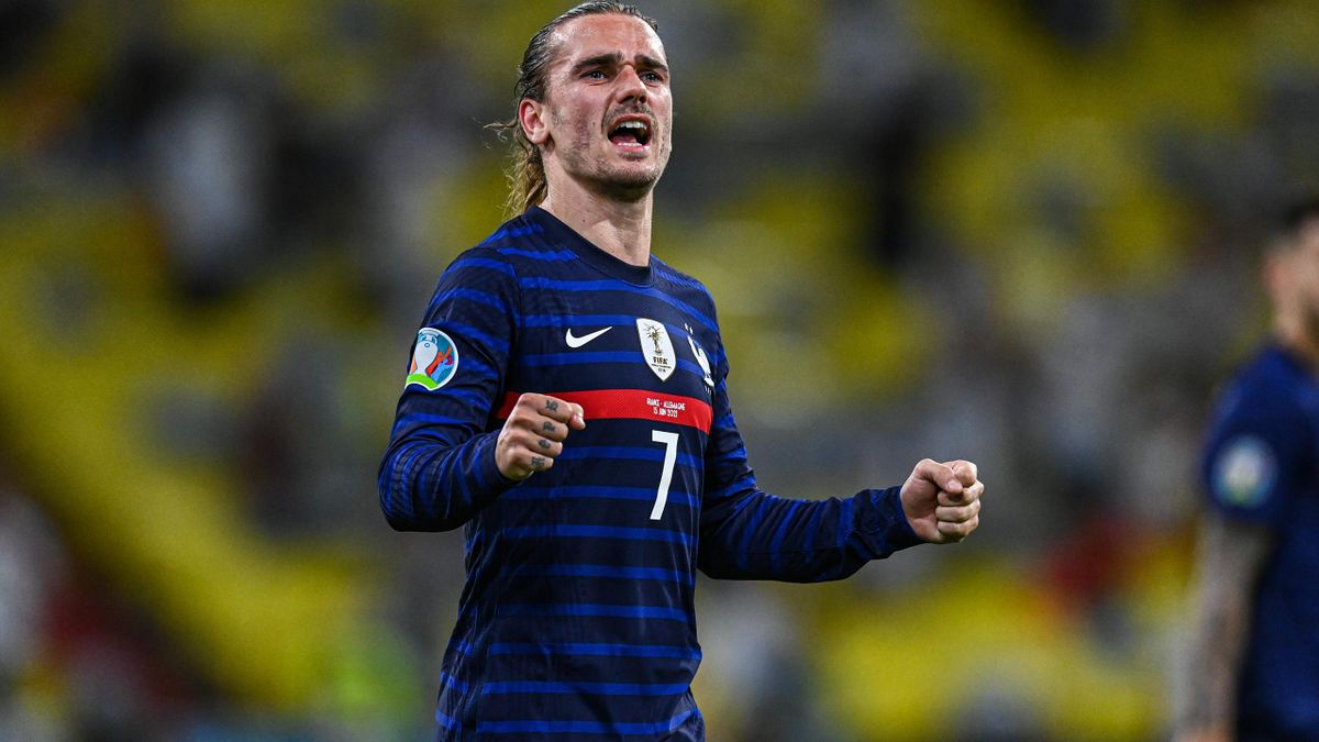: Antoine Griezmann of France celebrates after winning the UEFA Euro 2020 Championship Group F match between France and Germany
