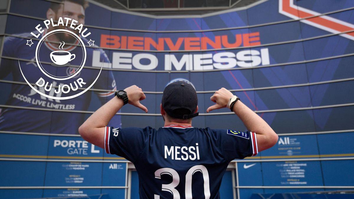 La présentation de Lionel Messi au Parc des Princes à la Une du plateau du 14 août