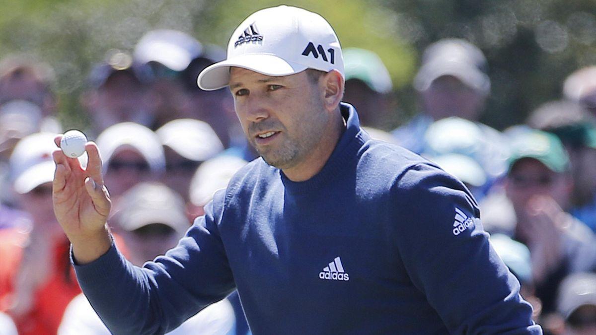 Sergio García durante el Masters de Augusta 2017
