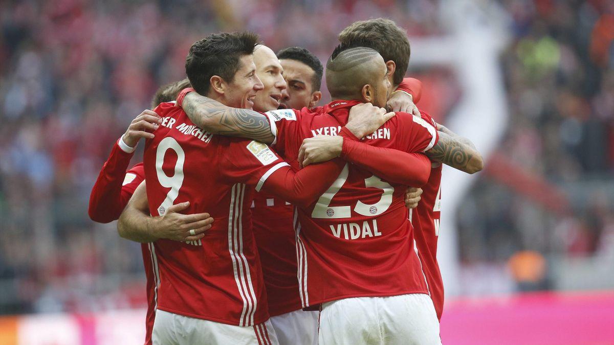 Die Bayern gewinnen gegen Eintracht Frankfurt