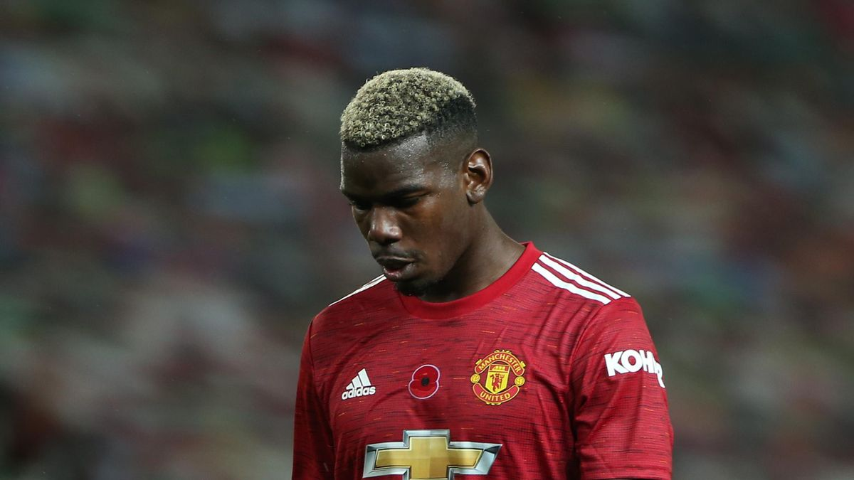 Paul Pogba of Manchester United walks off after the Premier League match between Manchester United and Arsenal at Old Trafford on November 01, 2020 in Manchester, England.