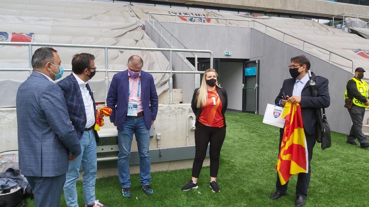 Delegația Macedoniei de Nord pe stadionul Ghencea