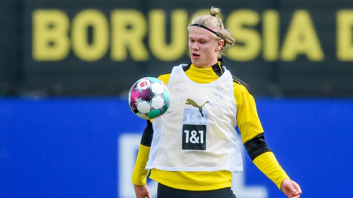 BVB-Torjäger Erling Haaland beim Training