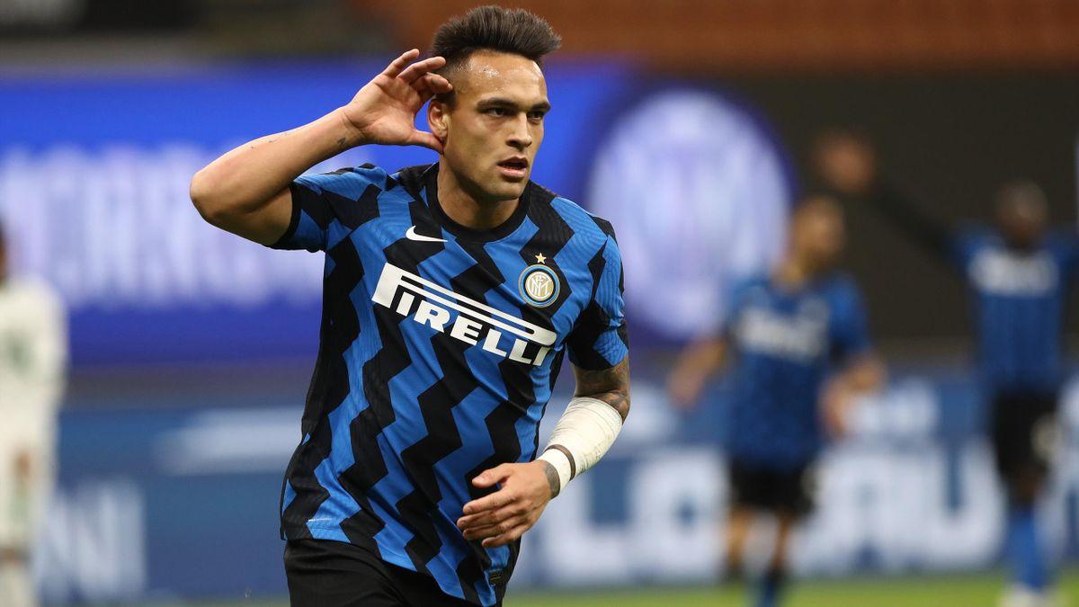 Lautaro Martinez esulta, Inter-Sassuolo, Serie A 2020-21, Getty Images
