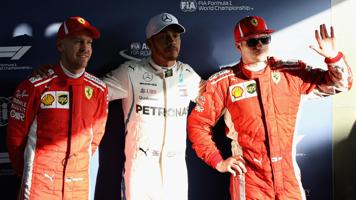 Sebastian Vettel, Lewis Hamilton, Kimi Raikkonen, Getty Images