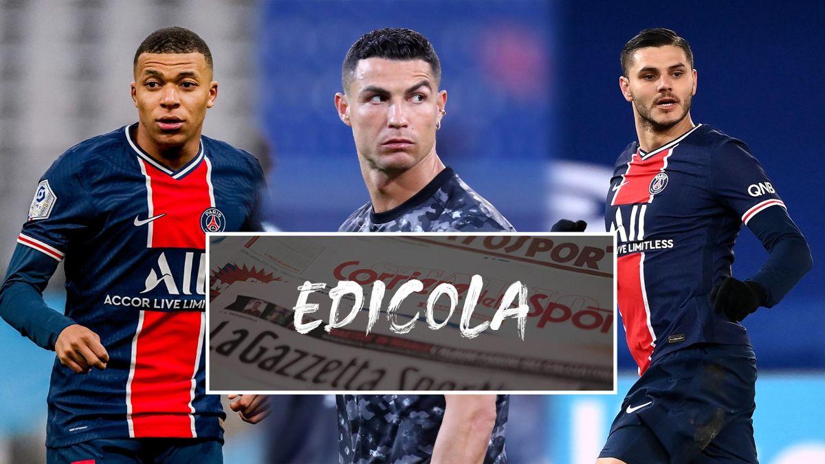 Edicola, calciomercato: Mbappe, CR7, Icardi