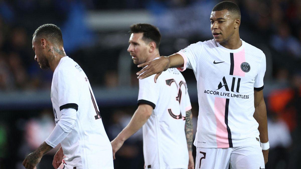 Neymar, Lionel Messi and Kylian Mbappé