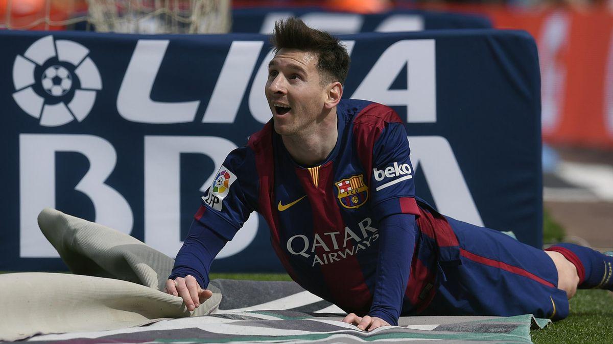 Lionel Messi (FC Barcelone) a signé un triplé face au Rayo Vallecano en Liga