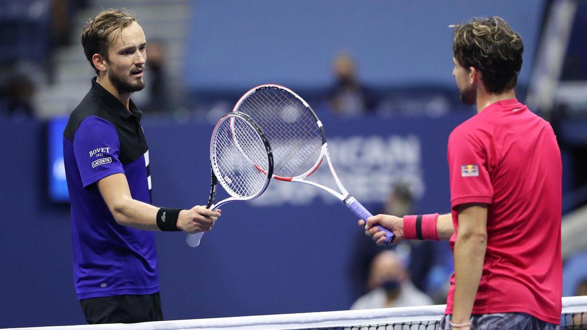 Daniil Medvedev et Dominic Thiem lors de l'US Open 2020.