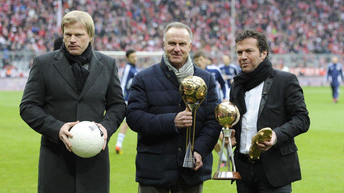 Oliver Kahn, Karl-Heinz Rummenigge, Lothar Matthaus - fotó: Frank Hoermann