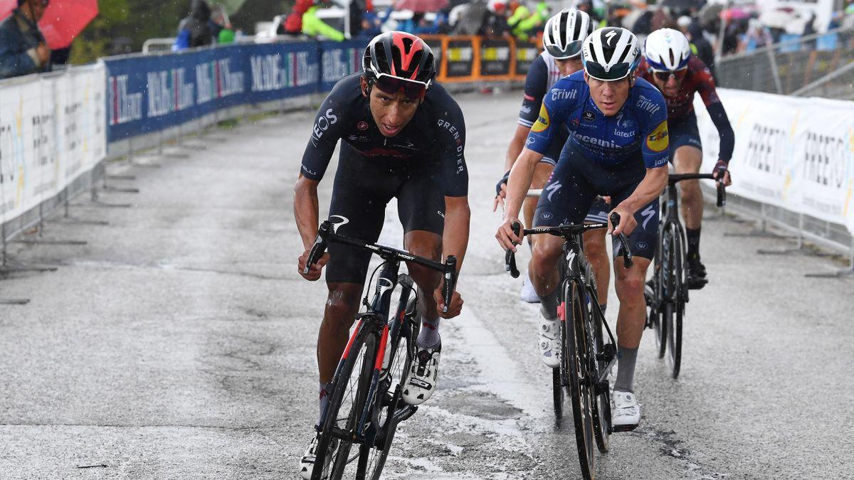 Egan Bernal im Schlussanstieg in Ascoli Piceno auf der 6. Giro-Etappe