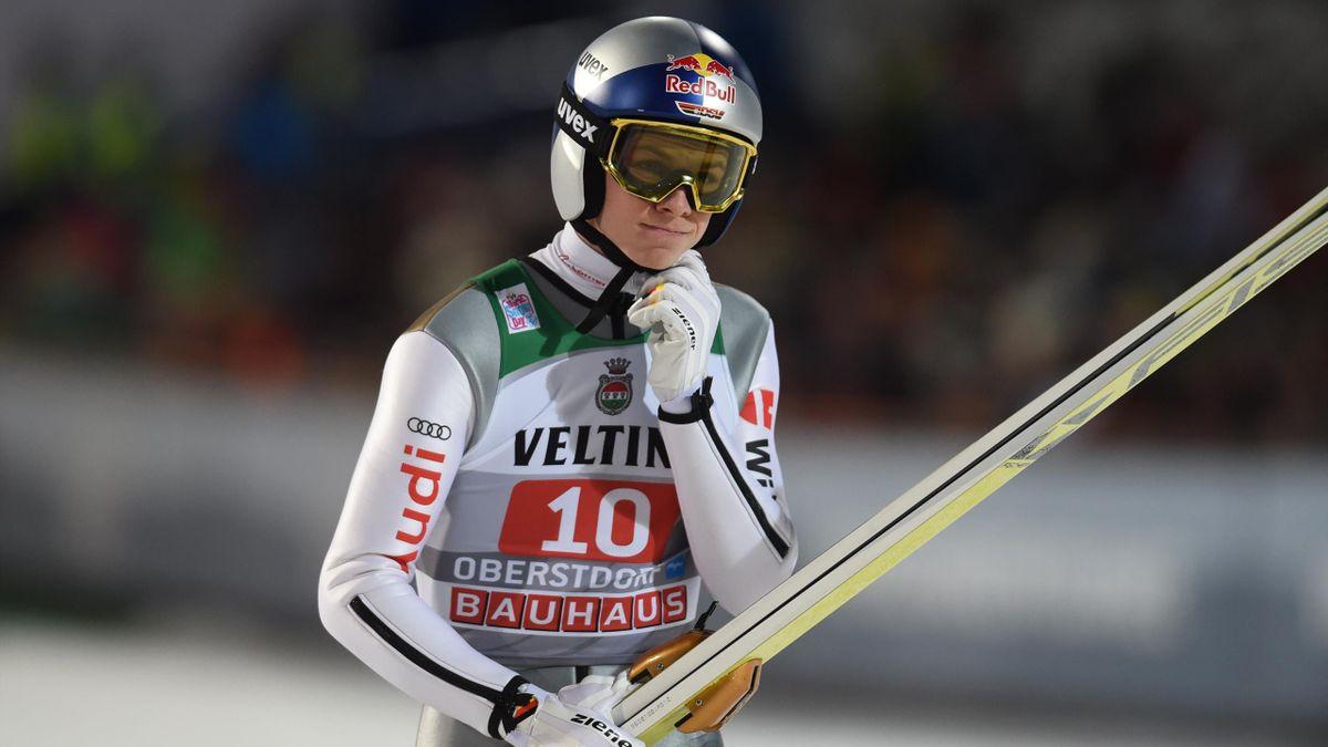 Andreas Wellinger beim Auftaktspringen der Vierschanzentournee 2018/2019 in Oberstdorf