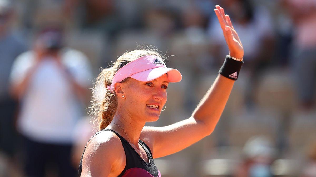 Kristina Mladenovic à Roland-Garros en 2021