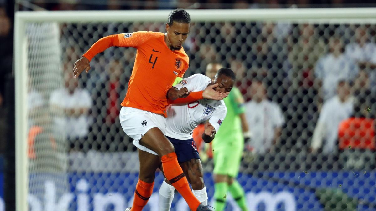 Virgil van Dijk lors de Pays-Bas - Angleterre en Ligue des nations
