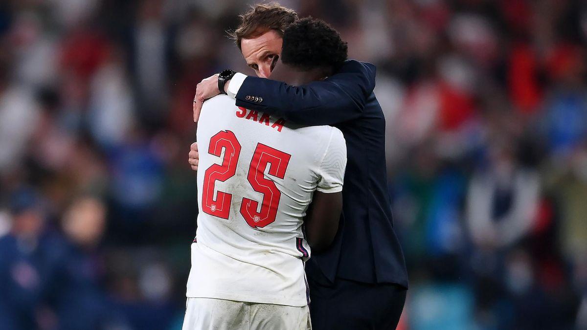Gareth Southgate and Bukayo Saka