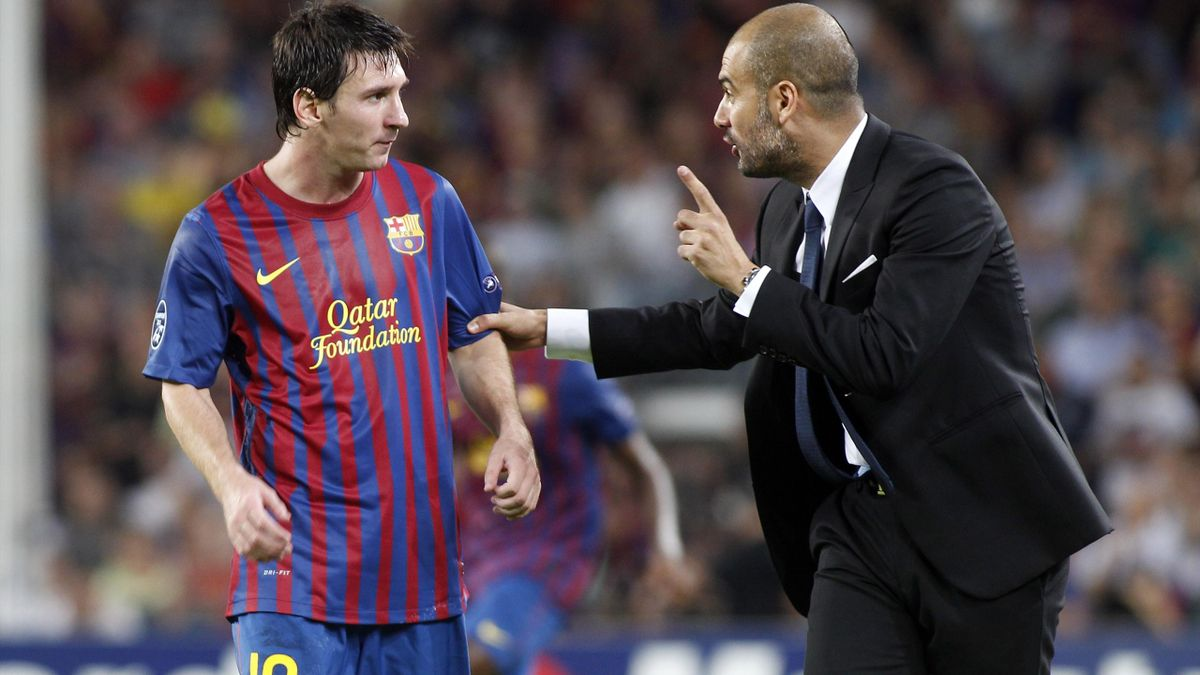 Lionel Messi and Josep Guardiola - Barcelona - 2012