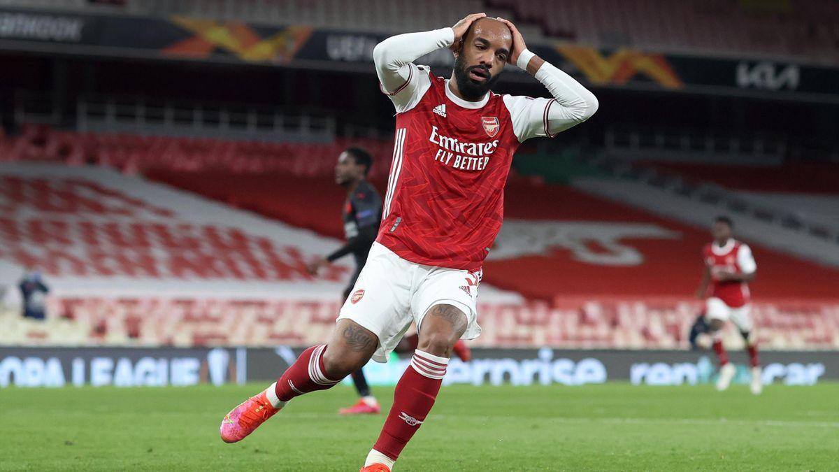Alexandre Lacazette missed a huge chance for Arsenal
