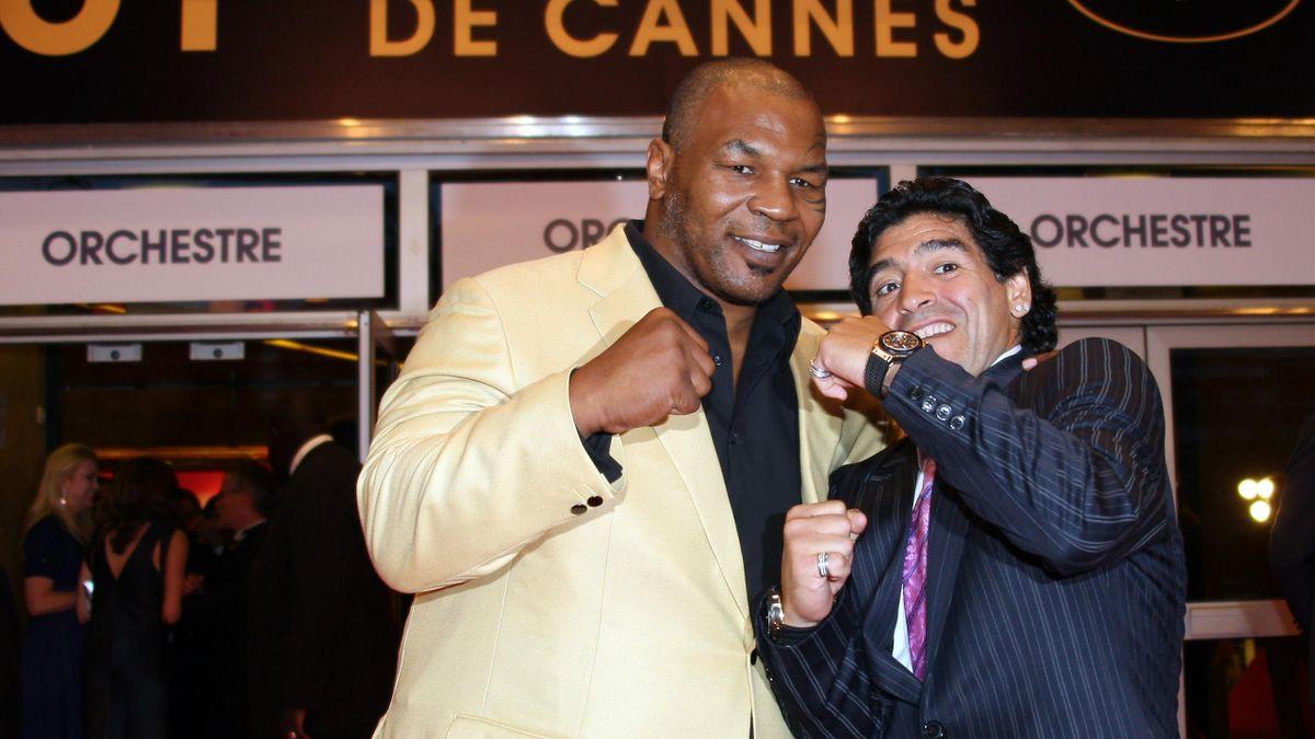 Майк Тайсон и Диего Марадона на премьере фильма «Че»