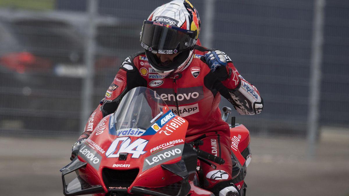 Andrea Dovizioso esulta per il successo nel GP d'Austria, MotoGP