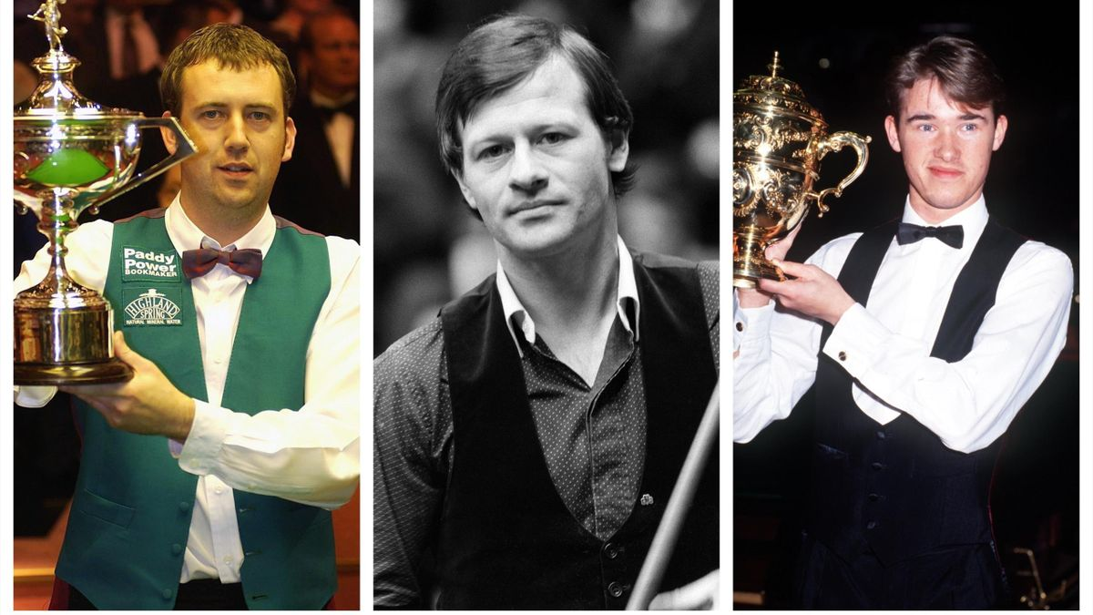 Mark Williams, Alex Higgins and Stephen Hendry.