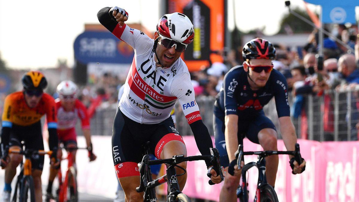 Diego Ulissi batte João Almeida, Konrad, Geoghegan Hart nella volata di Monselice - Giro d'Italia 2020, stage 13 - Getty Images