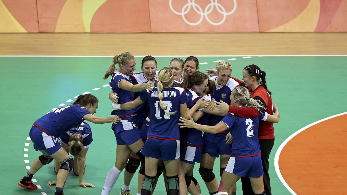 Russia wins gold in the handball competition