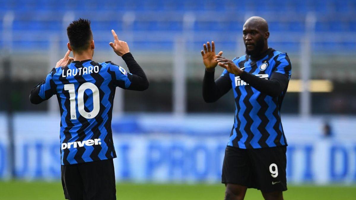 Lautaro Martine e Romelu Lukaku - Inter-Crotone Serie A 2020-21