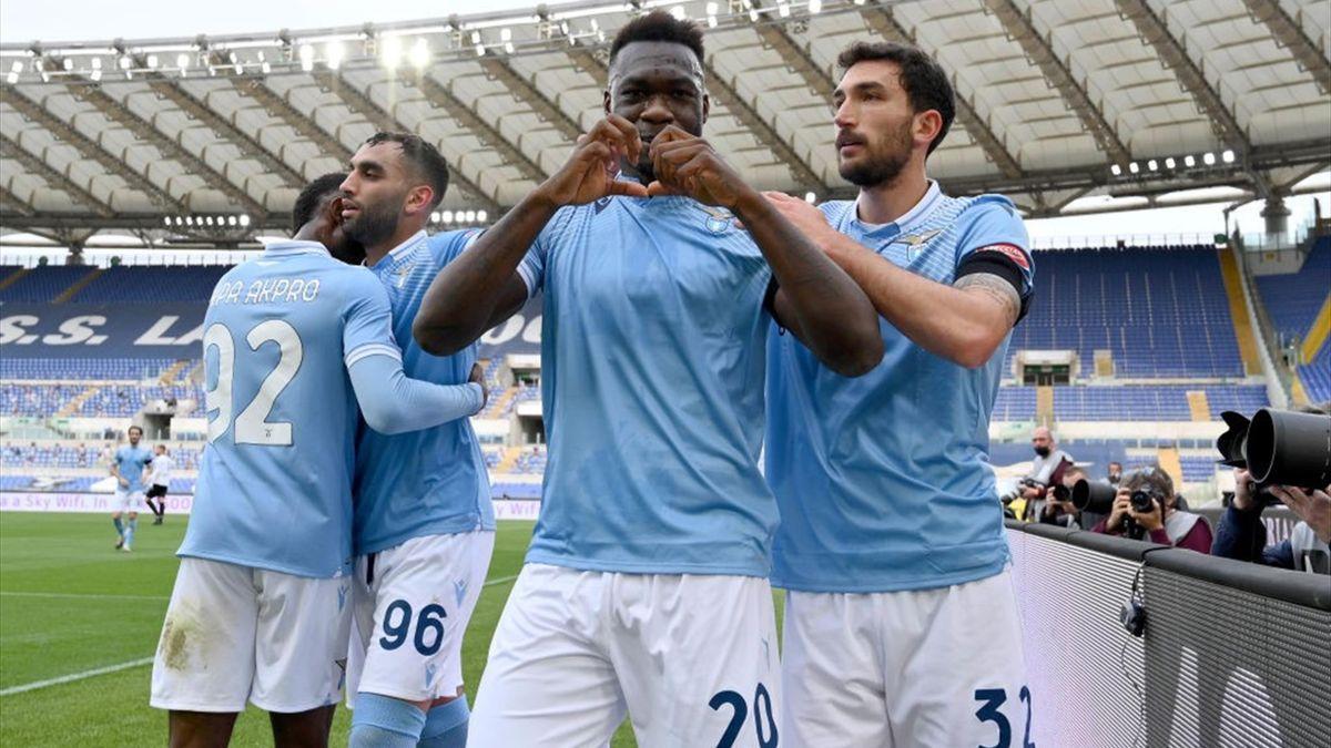Caicedo esulta per il gol della vittoria in Lazio-Spezia - Serie A 2020/2021 - Getty Images