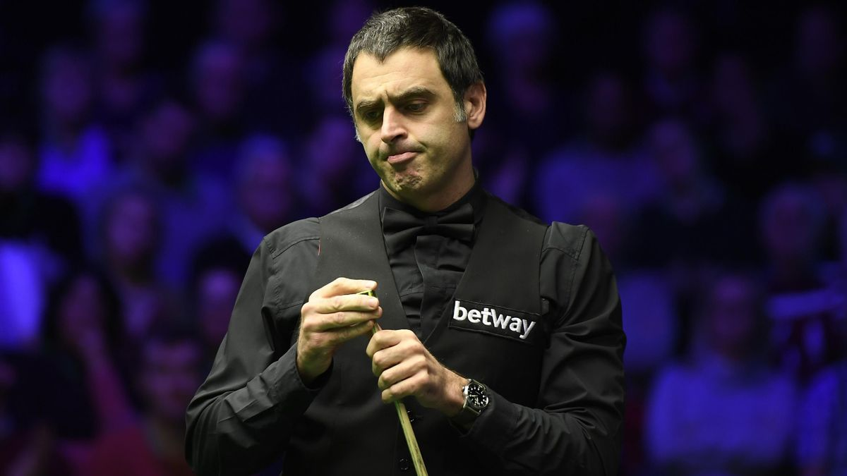 Ronnie O'Sullivan reacts during his match against Ding Junhui in the fourth round of the Betway UK Championship at The Barbican on December 05, 2019